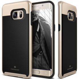 Caseology® Envoy Series Samsung Galaxy S6 Edge Plus Carbon Fiber Black