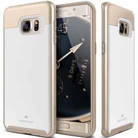 Caseology® Envoy Series Samsung Galaxy S6 Edge Plus Carbon Fiber White + 1 Gratis S6 Edge Plus Screenprotector