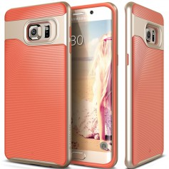 Caseology® Wavelength Series Samsung Galaxy S6 Edge Plus Coral Pink + Screen Protector