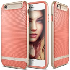 Caseology® Wavelength Series iPhone 6S / 6 Plus Coral Pink + iPhone 6S/6 Plus Screenprotector