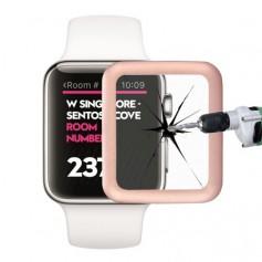 0.2mm 8-9H Metaal Full-covered Tempered Glas Voor Apple Watch 42mm Rose Goud