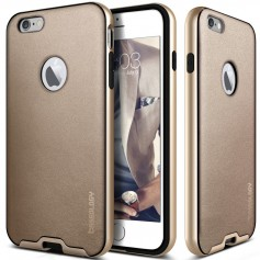 Caseology Bumper Frame Case iPhone 6S / 6 Leather Chopper Gold + Screen Protector