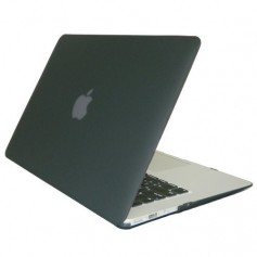 """Macbook Air 13"""" inch Hard Case Cover Laptop Hoes Tranparant Zwart"""