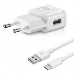 Combodeal - 1 meter Type C USB kabel + USB Adapter Gecertificeerd - Wit