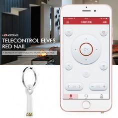 Baseus Mini Infrafrood Telecontrol Elves Red Oordopjes Dust Plug met Silicone Hoesje & Key Ring voor iPhone & iPad (voor TV etc)