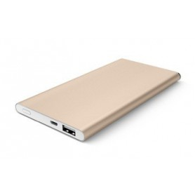 8800 mAh Premium Aluminium Powerbank Universeel Gold iPhone / Samsung / HTC / LG / Sony etc