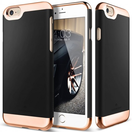 best website d8fce a7194 Caseology ® Savoy Series iPhone 6S PLUS / 6 PLUS Black + Tempered Glass  Screenprotector