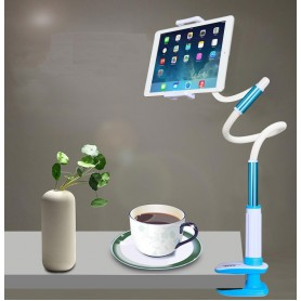 360° Houder Tablet / Smartphone Aluminium 13 inch - Blauw - iPad Pro / iPad Air / Samsung Tab S2 / Surface Pro 3 / 4 etc
