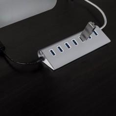 7 Poort Luxe Premium Aluminium USB 3.0 Hub / Switch / Splitter / Verdeler