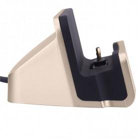 Premium Micro USB / S7 / S7 Edge / HUAWEI / Nexus / HTC Desktop Luxe Premium Docking Station Sync Oplader - Mat Goud