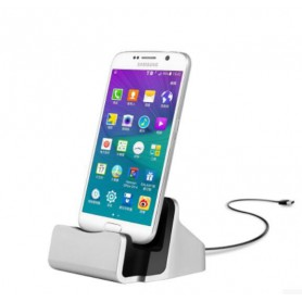 LEWEI® Type C USB LG G5 / Nexus 6P / Nexus 5X / Oneplus 3 / 2 / HUAWEI P9 etc - Dock Station Sync Oplader - Zilver