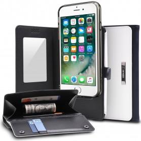 Rearth WALLET Portemonnee Case Ringke iPhone 7 Plus wit & blauw