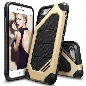 iPhone 7 Rearth Ringke Max defender case - royal gold + Ringke Max HD Screenprotector