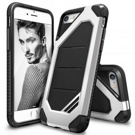 iPhone 7 Rearth Ringke Max defender case - ice zilver + Ringke Max HD Screenprotector