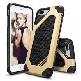 iPhone 7+ Plus Rearth Ringke Max defender case - royal gold + Ringke Max HD Screenprotector