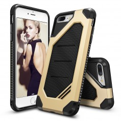 iPhone 7+ Plus Rearth Ringke Max defender case - royal gold + Ringke Max HD  Screenprotector