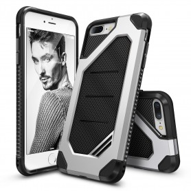 iPhone 7+ Plus Rearth Ringke Max defender case - ice zilver + Ringke Max HD  Screenprotector