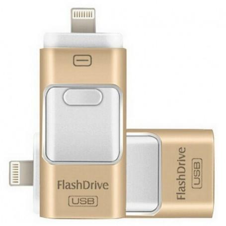 FlashDrive Dual Storage IOS & PC - Extra Opslag Voor iPhone / iPad / iPod - 16 GB
