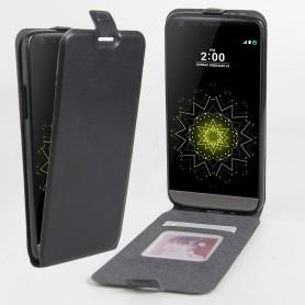 Luxe PU Lederen Soft Case Hand Flip Cover S7 Edge - Zwart