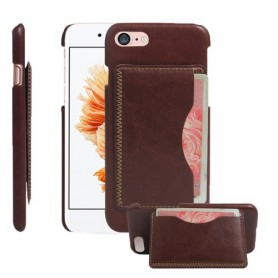 iPhone 7 Premium Kaart Case PU Leder - Bruin