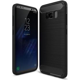 Samsung Galaxy S8 Plus Carbon Fiber Style Case Zwart