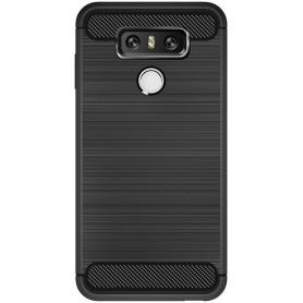 LG G6 Carbon Fiber Style TPU Case Zwart