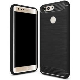 HUAWEI P10 Plus Carbon Fiber Style TPU Case Zwart