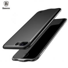 Baseus iPhone 7 PLUS Barely Visible Smart Batterij Case 3650 mAh Accu - Eclipse Zwart