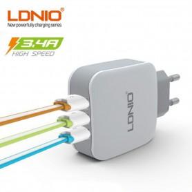 Lonio® 3 Poort Premium Oplader Adapter 3.4 voor de Samsung S8