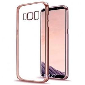 S8 Electro Shine TPU Gel Case Rosegold