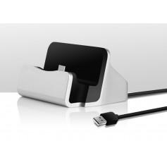 Premium Type C Desktop Luxe Premium Docking Station Sync Oplader Dock - Zilver