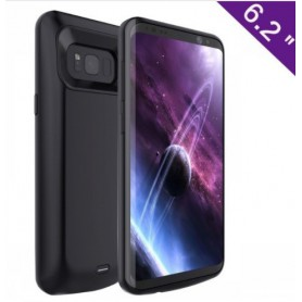 Samsung Galaxy S8 Externe Batterij Case Powerbank Hoesje 5000 mAh Solar Black + Type C Kabel