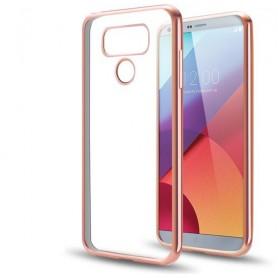 LG G6 TPU softgel ultradunne case Rosegoud