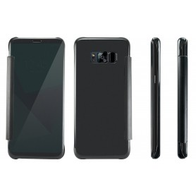 S8+ Plus Spiegel Flip Mirror Cover - Zwart