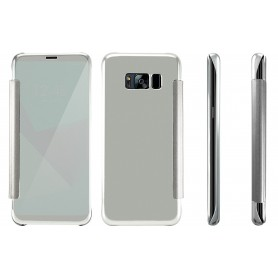 S8+ Plus Spiegel Flip Mirror Cover - Zilver