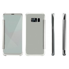 S8+ Plus Spiegel Flip Mirror Cover - Zilver
