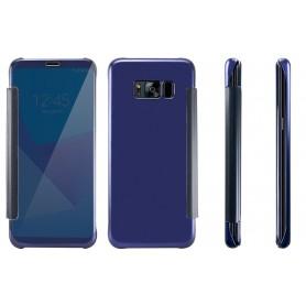 S8+ Plus Spiegel Flip Mirror Cover - donkerblauw
