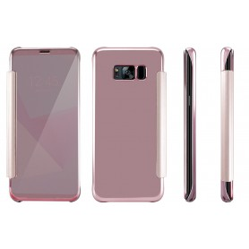 S8+ Plus Spiegel Flip Mirror Cover - rosegold