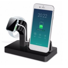 2 in 1 Luxe Docking Station + Apple Watch 1 / 2 Dock Stand Premium Edition - Eclipse Black