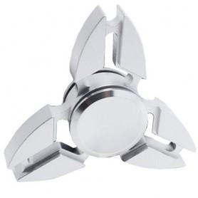 Fidget spinner aluminium Ninja - 3 bladen - Zilver