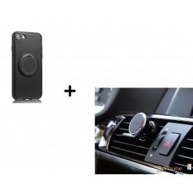Ring Case Socket TPU Hoes Magnetische Case iPhone 7 PLUS + Luxe Magnetische Autohouder