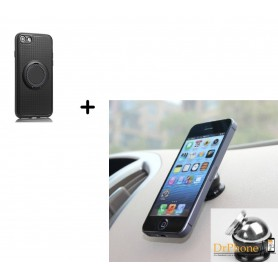 Ring Case Socket TPU Hoes Magnetische Case iPhone 7 PLUS + Magnetische Autohouder