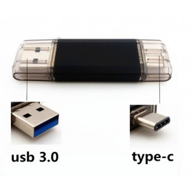 16GB - Type C FlashDrive USB STICK Smartphone / Tablet USB C Zwart MAC / Windows- 100% Security + Extra Opslag