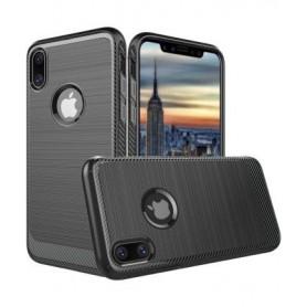 iPhone X Carbon Armor Ultimate Drop Proof Case - Eclipse Black + iPhone X Screenprotector