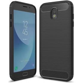 J5 2017 Geborsteld TPU case - Ultimate Drop Proof Siliconen Case - Carbon fiber Look