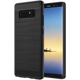 Note 8 Geborsteld TPU case - Ultimate Drop Proof Siliconen Case - Carbon fiber Look