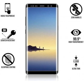 Note 8 Tempered Glass 3D Design Full Screen Coverage Zwart ( Volledige Dekking)