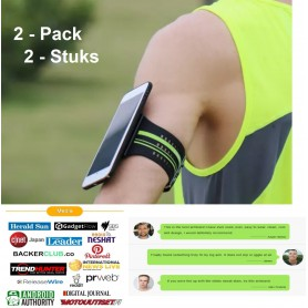 DrPhone - Click&Go - 'S Werelds Beste Sport Armband Universeel Siliconen Sportband - Infinity Red