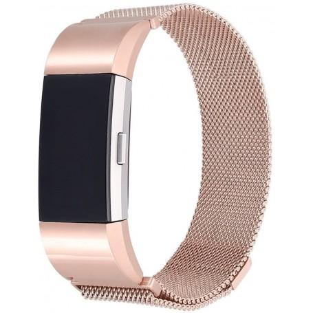 Fitbit Charge 2 Milanese Horloge Bandje met magneetsluiting