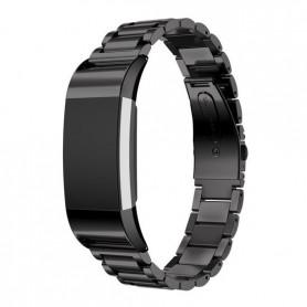 Fitbit Charge 2 Metal Roestvrij Stalen Armband - Zwart